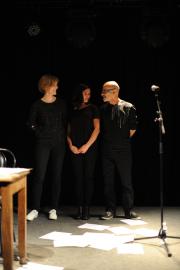 Emmanuelle Richard, Julia Kerninon et le musicien Hervé Gudin